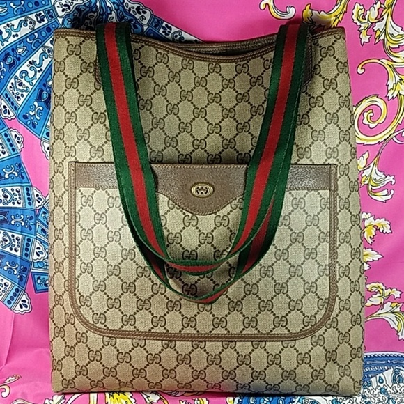 5837db2e079cd7 Gucci Bags | Authentic Gg Monogram Large Coated Tote | Poshmark